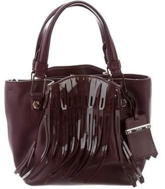 Tod's Leather Fringe-Trimmed Bag