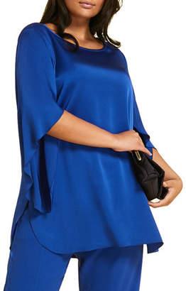 Marina Rinaldi Plus Size Famoso Scoop-Neck Tulip-Sleeve Tunic