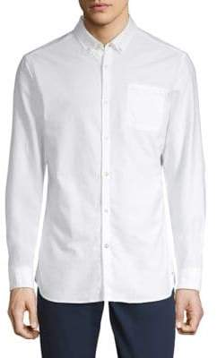 Scotch & Soda Classic Cotton Button-Down Shirt
