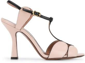 L'Autre Chose circular front strap sandals