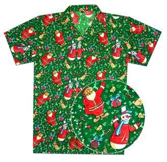 dba8dc54 Virgin Crafts Christmast Shirts for Men Women Santa Casual Beach Vacation Aloha  Hawaiian Shirt