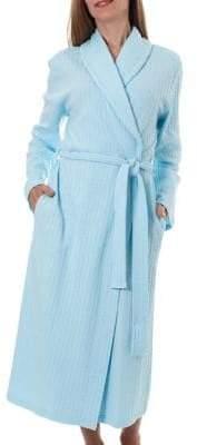 Jasmine Rose Textured Wrap Robe