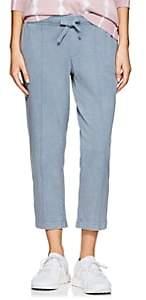 ATM Anthony Thomas Melillo Women's Washed Cotton Crop Sweatpants - Lt. Blue