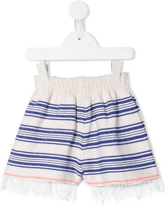Lemlem elasticated waist striped shorts