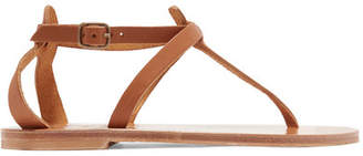 K Jacques St Tropez Cedre Leather Sandals - Tan