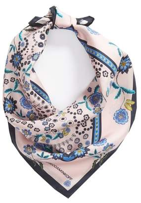 Rebecca Minkoff Mixed Floral Paisley Silk Bandana