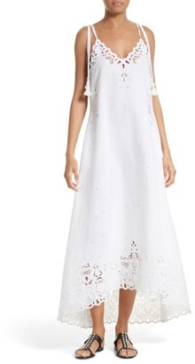 Women's Theory Taytee Cotton & Linen Maxi Dress $475 thestylecure.com