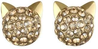 Karl Lagerfeld Paris Crystal Choupette Earrings