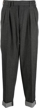 Pt01 pleated taper trousers