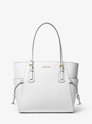 Michael Kors Voyager Small Crossgrain Leather Tote Bag