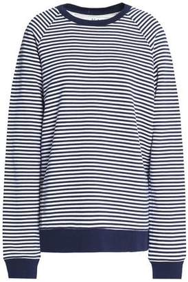 Zoe Karssen Distressed Striped Cotton-Terry Sweatshirt