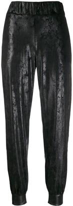 NO KA 'OI No Ka' Oi metallized trousers