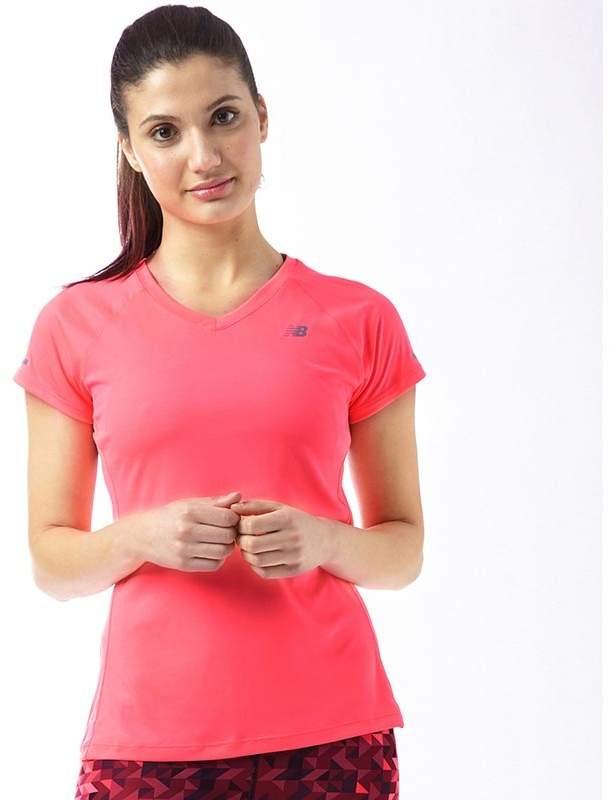 Damen T-Shirt Fluo Rosa
