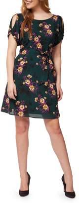 Dex Botanical-Print Tie-Waist Dress