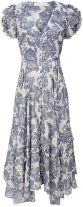 LoveShackFancy Andie Floral Midi Dress