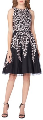 Women's Tahari Embroidered Fit & Flare Dress $208 thestylecure.com