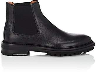 Lanvin Men's Lug-Sole Grained Leather Chelsea Boots - Black