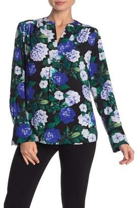 Calvin Klein Split Collar Floral Print Blouse