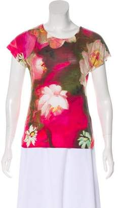 Ted Baker Short Sleeve Floral Print Top