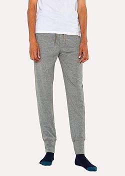 Men's Light Grey Jersey Cotton Lounge Pants