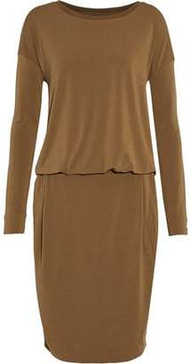 By Malene Birger Wrap-Effect Draped Stretch-Crepe Dress