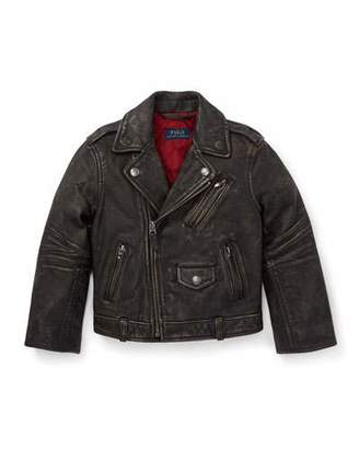 Ralph Lauren Leather Biker Jacket, Size 5-7