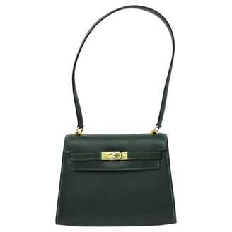 Hermes Vintage Kelly Mini Green Leather Handbag