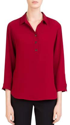 Gerard Darel Laurie Half-Placket Top