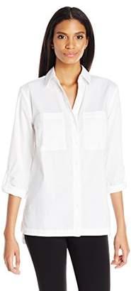 Jones New York Women's Cotton Equipment Shirt $69.50 thestylecure.com