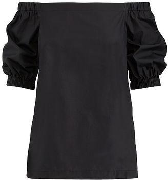 Ralph Lauren Lauren Cotton Off-The-Shoulder Top $79.50 thestylecure.com