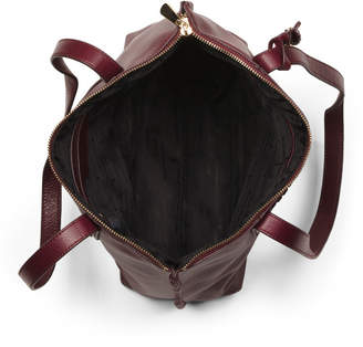 Exumas Top Zip Leather Tote