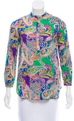 Ralph Lauren Paisley Button-Up Top