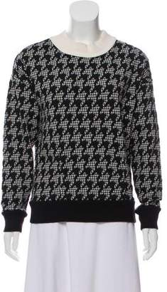 Theory Houndstooth Mock Neck Sweater