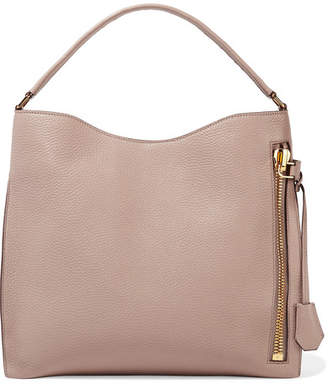 Tom Ford Alix Medium Textured-leather Tote - Neutral