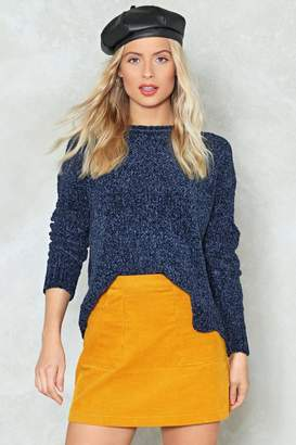 Nasty Gal Knit's Not Unusual Chenille Sweater