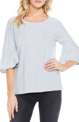Women's Two By Vince Camuto Relaxed Bell Sleeve Cotton Tee $59 thestylecure.com