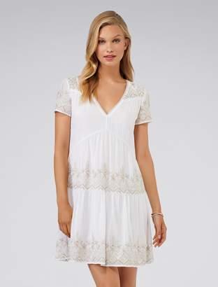 Forever New Sahara embellished boho dress - White - 8