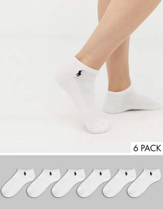 2b9833a195ad at ASOS · Polo Ralph Lauren 6 pack low cut trainer socks with cusion sole