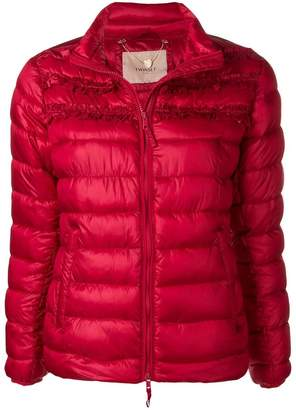 Twin-Set ruffled puffer jacket