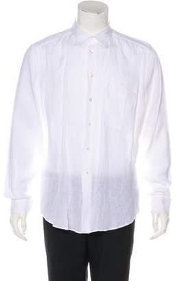 Louis Vuitton Solid Linen Dress Shirt