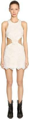 Fausto Puglisi Lace Cutout Mini Dress