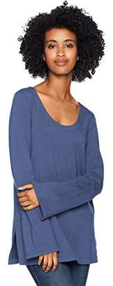 Daily Ritual Women's Terry Cotton and Modal Square-Sleeve Sweatshirt