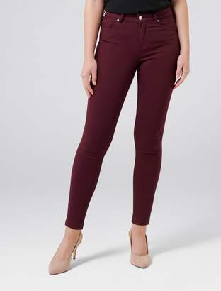 Forever New Poppy Mid Rise Ankle Grazer Jean - Deep Rosewood - 4