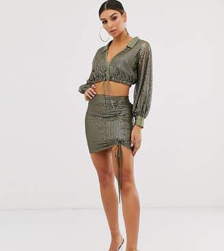 Chanel Asos Design ASOS DESIGN sequin mini skirt two-piece with detail