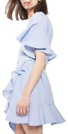 Women's Topshop Stripe Wrap Dress 2