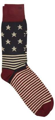 Corgi Vintage American Flag Socks