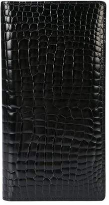 Maison Margiela crocodile-embossed card holder
