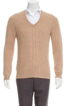 Prada Wool & Alpaca-Blend V-Neck Sweater