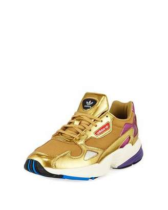 100% authentic c8450 6dd11 adidas Falcon Women s Metallic Sneakers