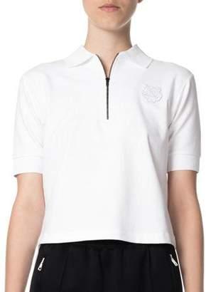 Kenzo Quarter-Zip Tiger Cropped Polo Shirt 05f1f2afd3d2